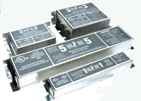 Fluorescent in-fixture electronic ballasts